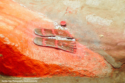 The footsteps of Swami Raghavendra, Mantralayam, Andhra Pradesh, India