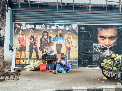 Movie poster, Chennai, Tamil Nadu