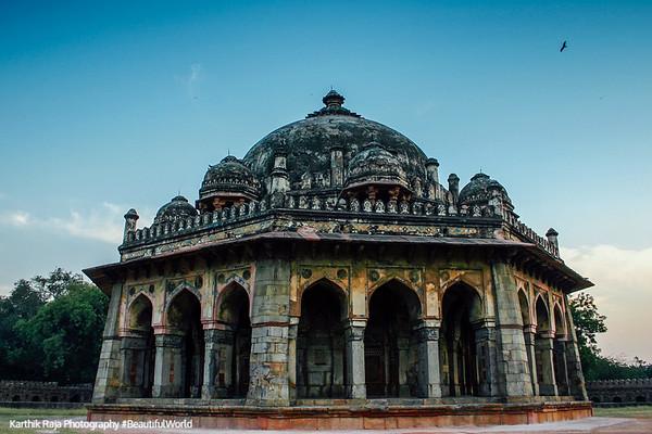 The Isa Khan tomb against the sky, Humayun's tomb complex, Delhi