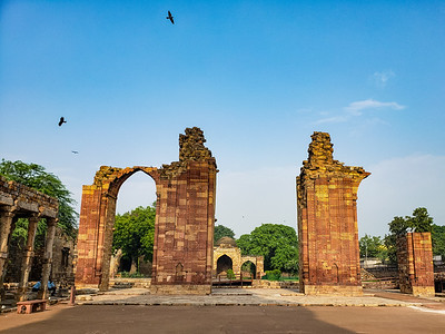 Ruined Mosque, Qutb Minar Complex, Delhi, India 2019