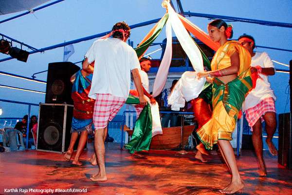 The dance of the knot, Santa Monica Cruise, Mandovi River, Panjim, Goa, India