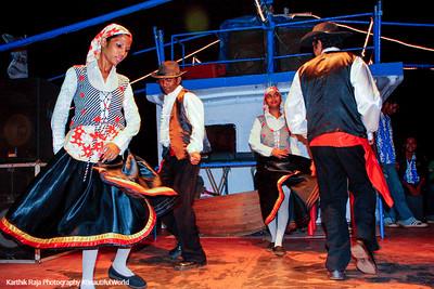 Portugeese dance, Santa Monica Cruise, Mandovi River, Panjim, Goa, India