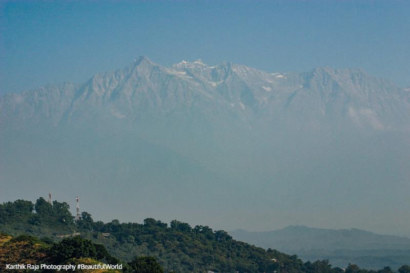 Dhauladhar mountain range, Kangra Fort, Kangra Valley, Himachal Pradesh