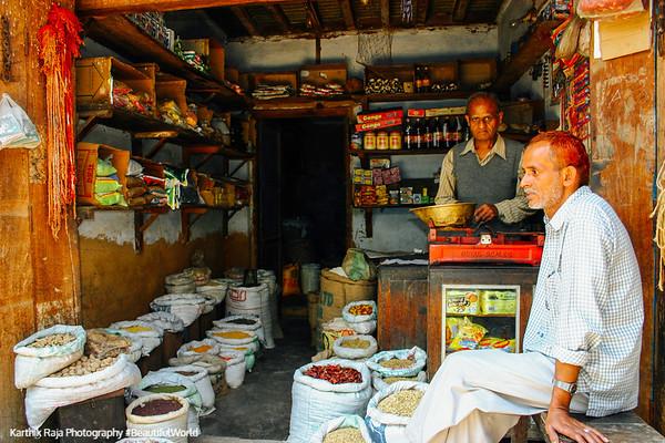 Store owner, Pragpur Heritage Village, Kangra Valley, Himachal Pradesh