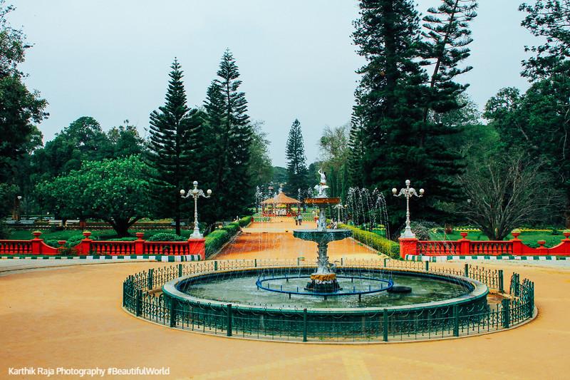 Fountain, Lalbagh Botanical Gardens, Bangalore, Karnataka