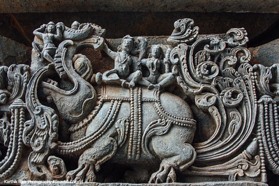 Relief Sculpture, Hoysaleswara temple, Halebidu