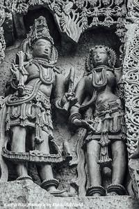 Relief Sculpture, Hoysaleswara temple, Halebidu