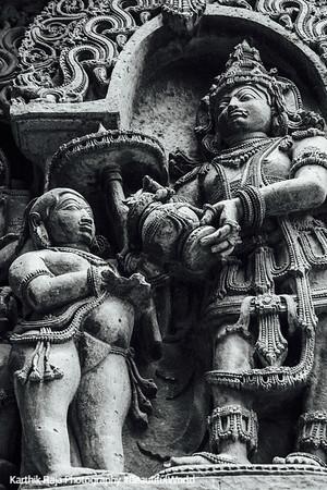 Vamana, Hoysaleswara temple, Halebidu
