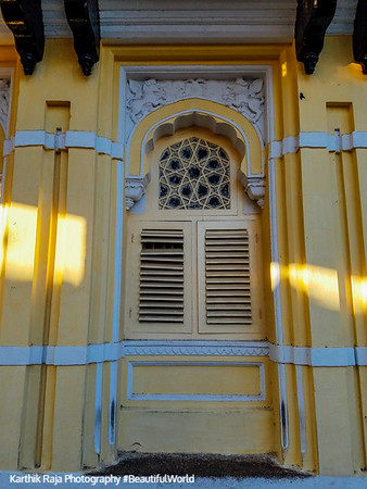 Window, Mysore Palace, Karnataka, India