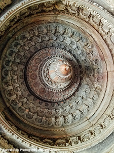 Domical bay ceiling, Opening of a Banana Bud, Chennakesava Temple, Somanathapura, Karnataka, India