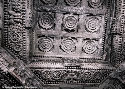 Intricate design on the ceiling, Chennakesava Temple, Somanathapura, Karnataka, India