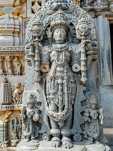 Mutilated statues, Chennakesava Temple, Somanathapura, Karnataka, India