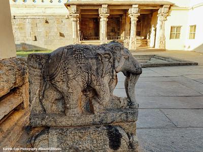 Elephant, Columns, Sri Ranganathaswamy Temple, Srirangapatna, Karnataka