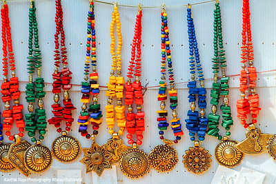 Necklaces for sale, Mullackal, Alappuzha, Kerala