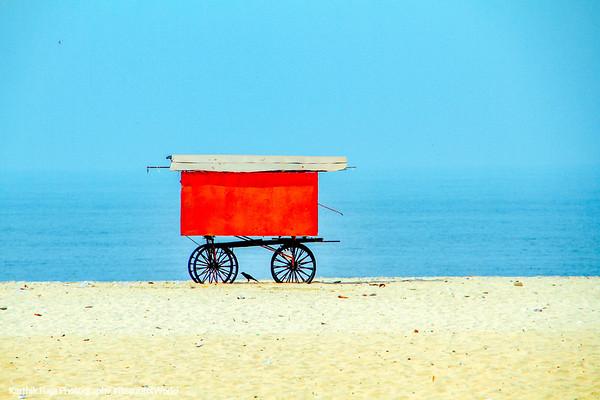 Cart, Alappuzha beach, Alappuzha, Kerala