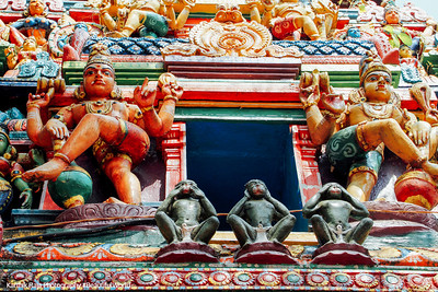 See no evil, Speak no evil, Hear no evil, Sree Ganesh Temple, Alappuzha, Kerala