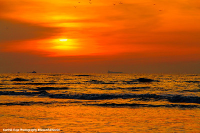 Fort Kochi Beach, Sunset, Fort Kochi, Kerala