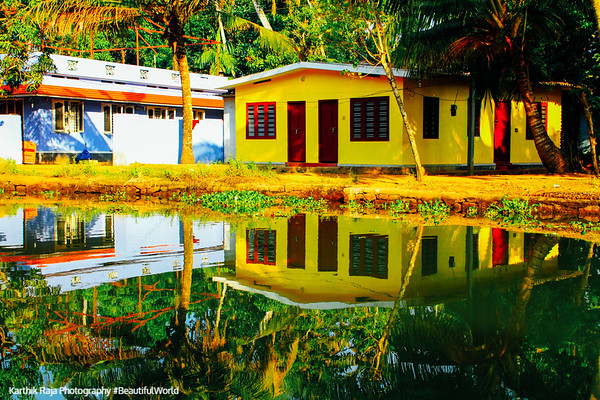 House, backwaters, Kumarakom, Kerala