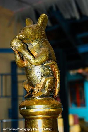 Ganesha, Mouse, Melarcode temple, Kerala