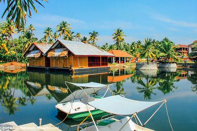 Floating cottages, boats, Vasundhara Sarovar Premiere, Vayalar, Kerala