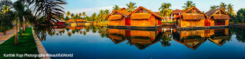 Floating cottages, Vasundhara Sarovar Premiere, Vayalar, Kerala