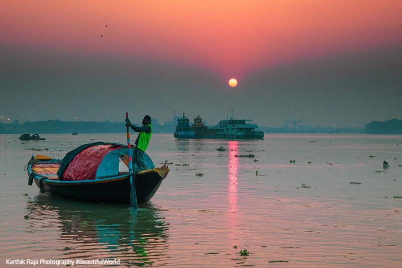 James Prinsep Ghat, Kolkata, India