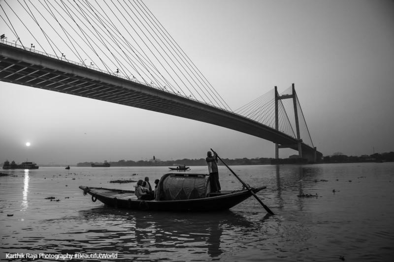 Vidyasagar Setu, Bridge, James Prinsep Ghat, Kolkata, India