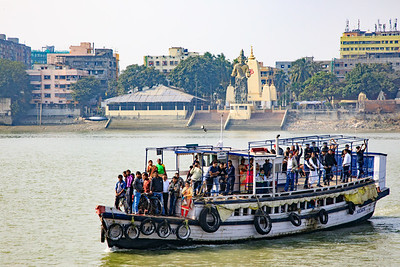 Local Ferry Crossing, Views from the Vivada Cruise, Hooghly River, Kolkata, India