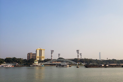 Eden Gardens, Views from the Vivada Cruise, Hooghly River, Kolkata, India