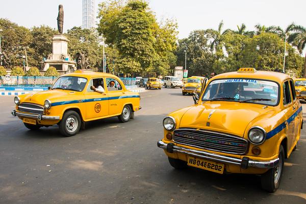 Ambassador Taxis, Kolkata, India