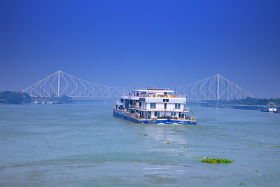 Howrah Bridge, Views from the Vivada Cruise, Hooghly River, Kolkata, India