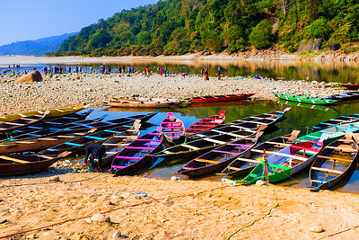 Boats, Dawki River, Meghalaya - India - Bangaladesh Border, Jaflang Zero Point