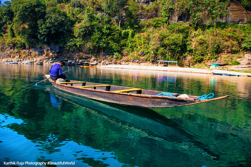 Boats, Dawki River, Meghalaya - India - Bangaladesh Border