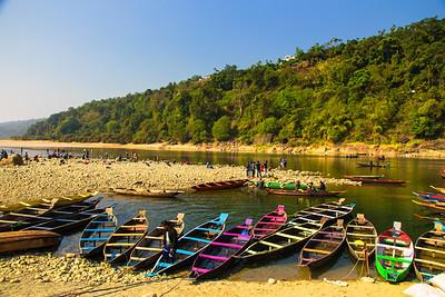 Boats, Dawki River, Meghalaya - India - Bangaladesh Border, Jaflang Zero Point