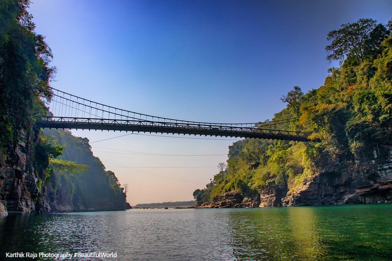 Dawki Bridge, Dawki River, Meghalaya - India - Bangaladesh Border, Jaflang Zero Point