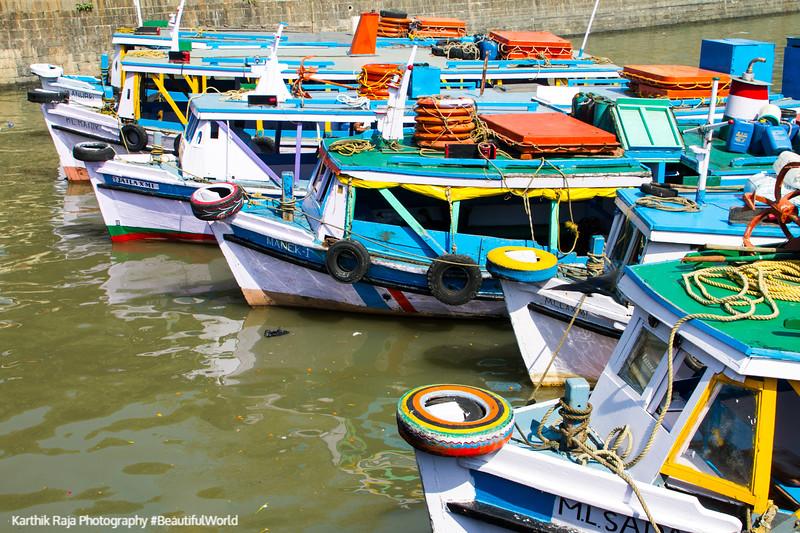 Boats, Arabian sea, Mumbai, India