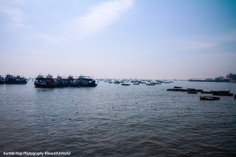 Boats, Arabian sea, Mumbai, India