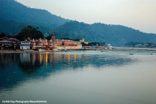 Temple town of Rishikesh, Uttaranchal, India