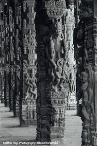 Hall of 100 pillars - Varadaraja Perumal Temple, Kanchipuram, India