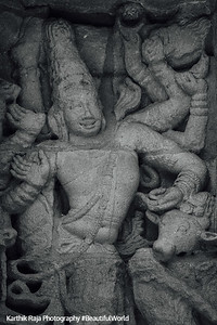Dancer, Sculptures, Kailasnatha temple, Kanchipuram, India