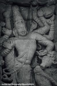 Dancer, Sculptures, Kailasnatha temple, Kanchipuram, India