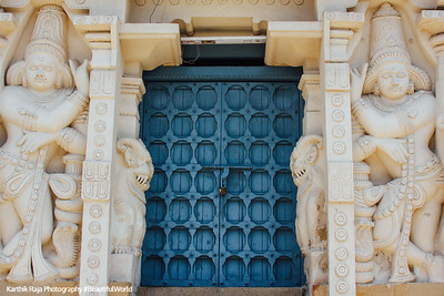 Door, Kailasnatha temple, Kanchipuram, India