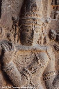 Hall of 100 pillars - Krishna plays the flute, Varadaraja Perumal Temple, Kanchipuram, India