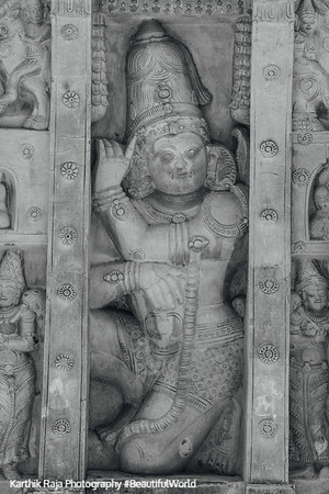 Sculptures, Kailasnatha temple, Kanchipuram, India