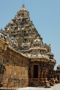 Kailasnatha temple, Gopurams, Kanchipuram, India