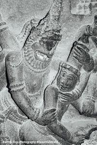 Hall of 100 pillars - Narasimha with a maiden, Varadaraja Perumal Temple, Kanchipuram, India