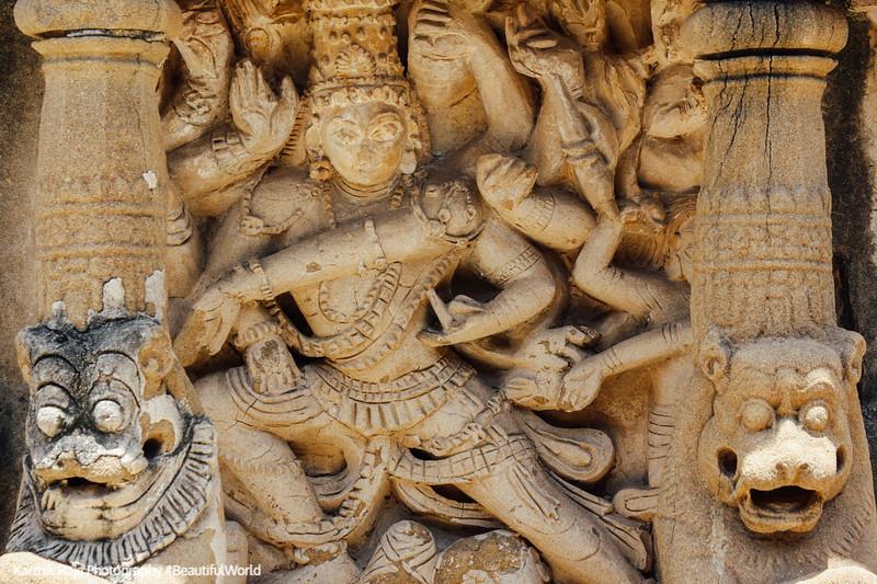 Nataraj, Sculptures, Kailasnatha temple, Kanchipuram, India