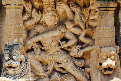 Nataraj, Sculptures, Kailasnatha temple, Kanchipuram, India