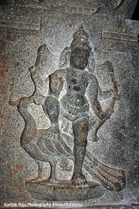 Muruga and his peacock carving, Sivan Temple, Karaikudi, India