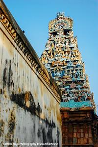 Gopuram tower view from the inside, Sarangapani Temple, Kumbakonam, India